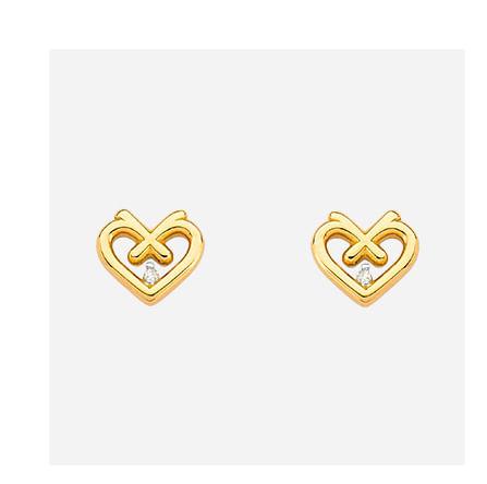 Brinco em Ouro Amarelo com Diamante