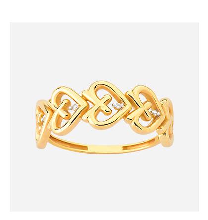 Anel em Ouro Amarelo com Diamante - 17