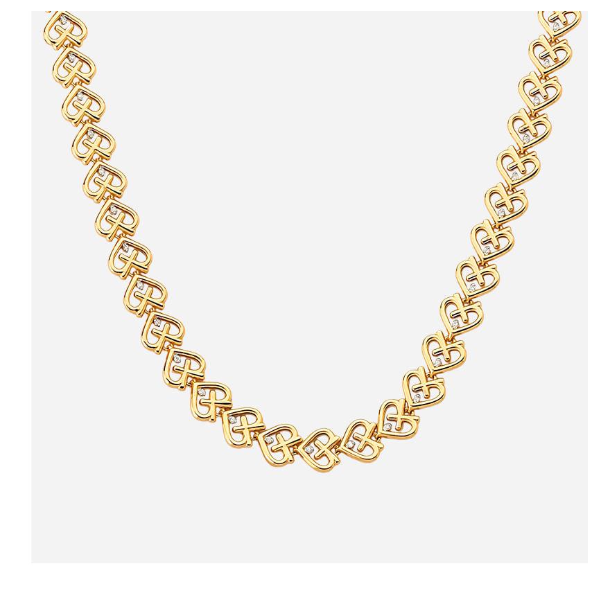 Colar em Ouro Amarelo com Diamantes