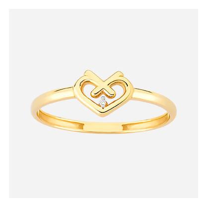 Anel em Ouro Amarelo com Diamantes - 17