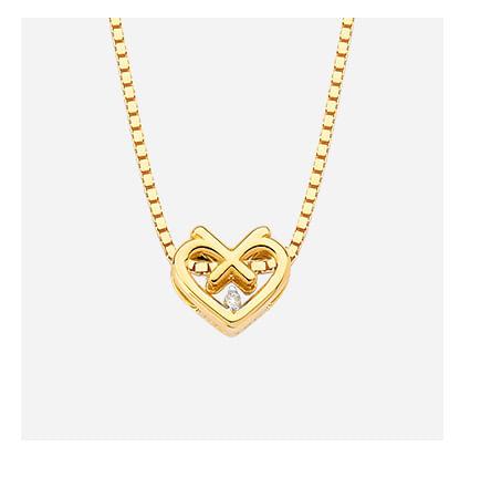 Pingente em Ouro Amarelo com Diamante