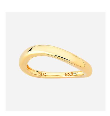 Anel em Prata com Banho de Ouro Amarelo - 11