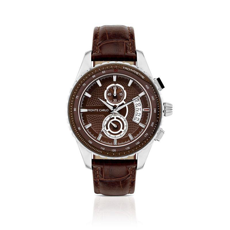 relogio-com-caixa-de-aco-pulseira-de-couro-marrom-cronografo-e-calendario