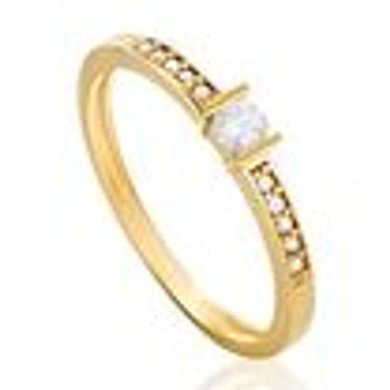 b87da5bd2bcd4 Anel Solitário em Ouro Amarelo 18K com Diamante SOLITARIOS - montecarlo