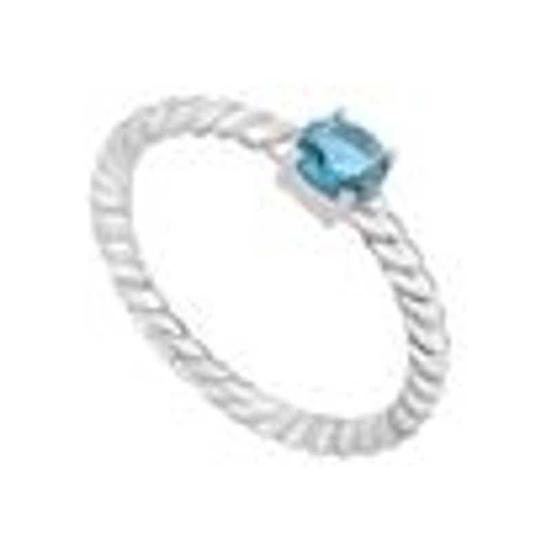 Anel em Prata com Zircônia Azul - montecarlo d83afeadf3