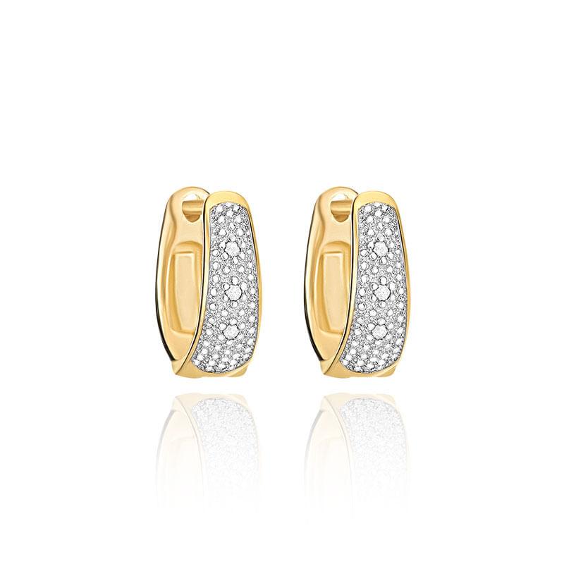Argola em Ouro Amarelo 18K com Diamante - montecarlo 077fa44cd6