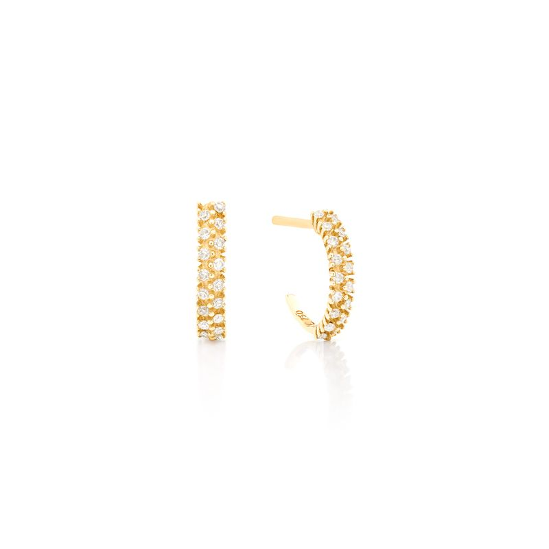 Argola em Ouro Amarelo 18K com Diamante - montecarlo 28dd39f333