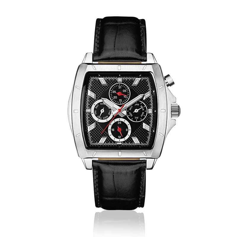3563ec62654 Relógio Monte Carlo Masculino em Couro Preto - montecarlo
