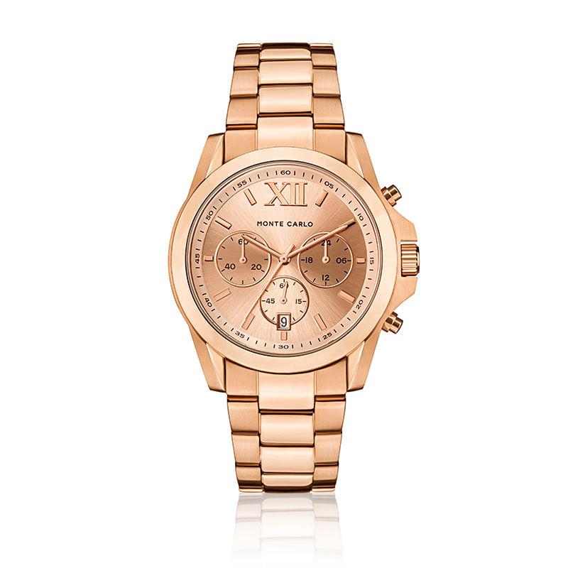 084fc43900d Relógio Monte Carlo Feminino em Aço Rosé - montecarlo