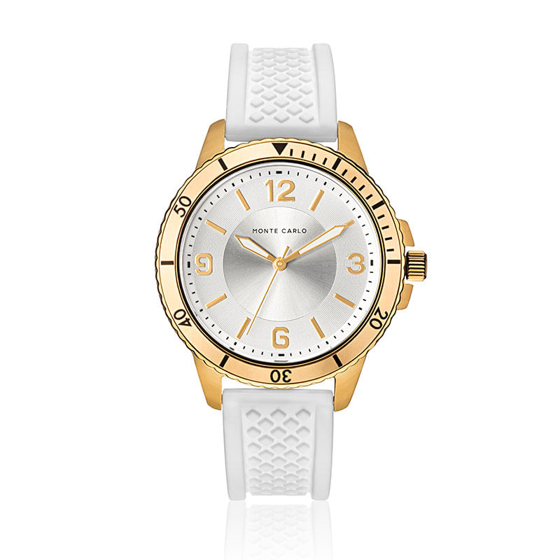 b87a1df3f4e Relógio Monte Carlo Feminino em Silicone Branco - montecarlo