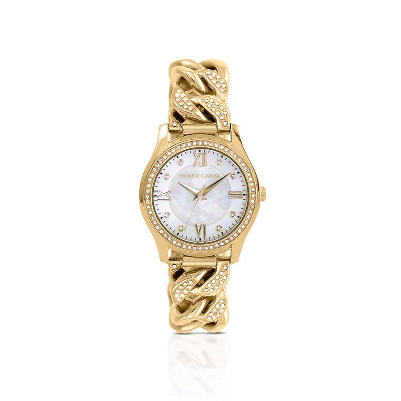 ecf76531eb0 Relógio Monte Carlo Feminino em Aço Dourado - montecarlo