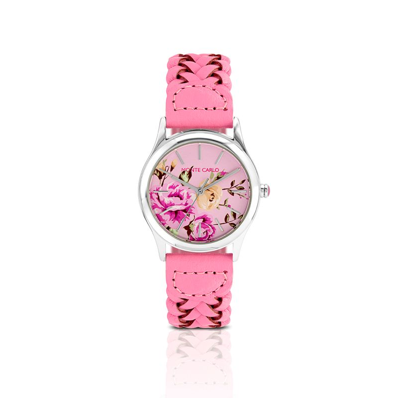 Relógio Monte Carlo Feminino em Couro Rosa - montecarlo 6c8eb13d04