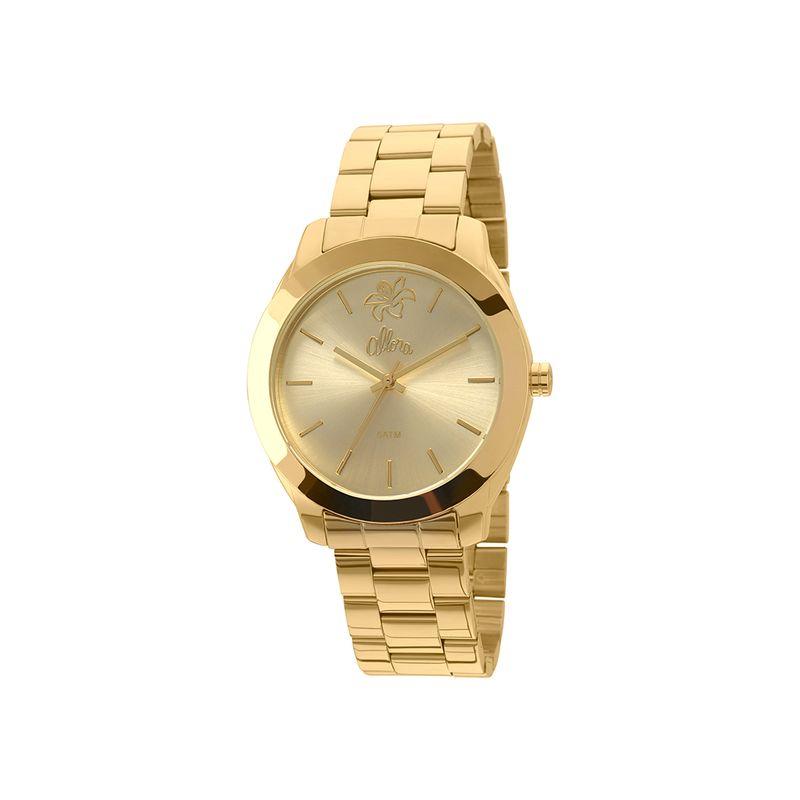Relógio Allora Feminino em Aço Dourado - montecarlo 61bbceca64