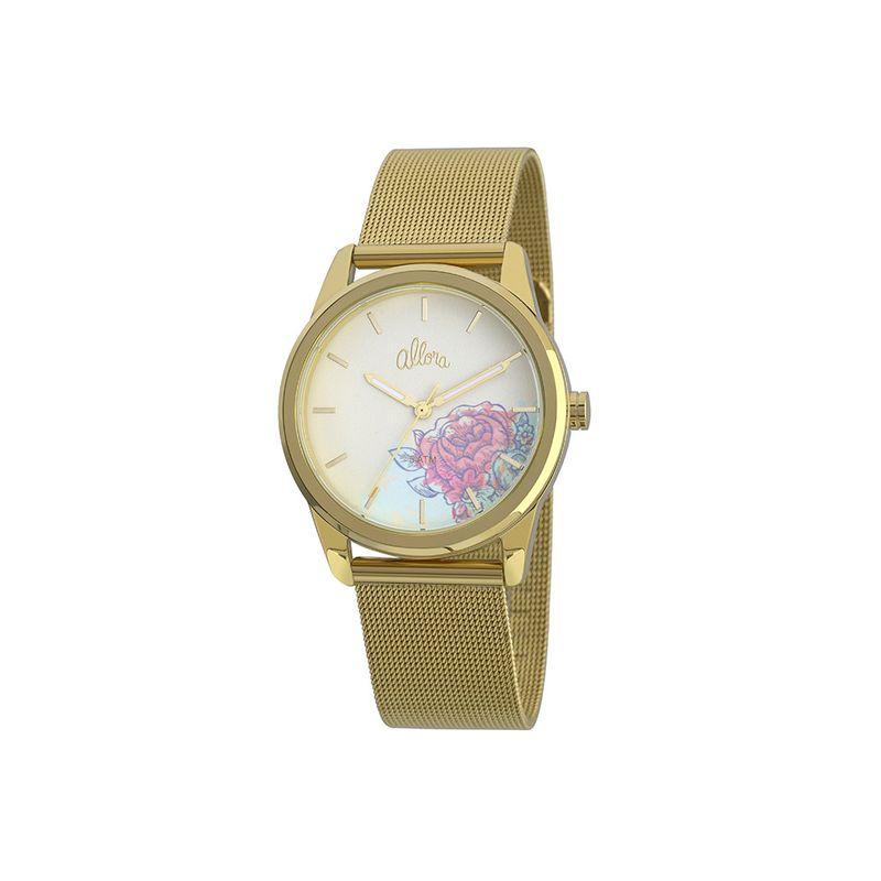 31ec6427f7035 Relógio Allora Feminino em Aço Dourado - montecarlo