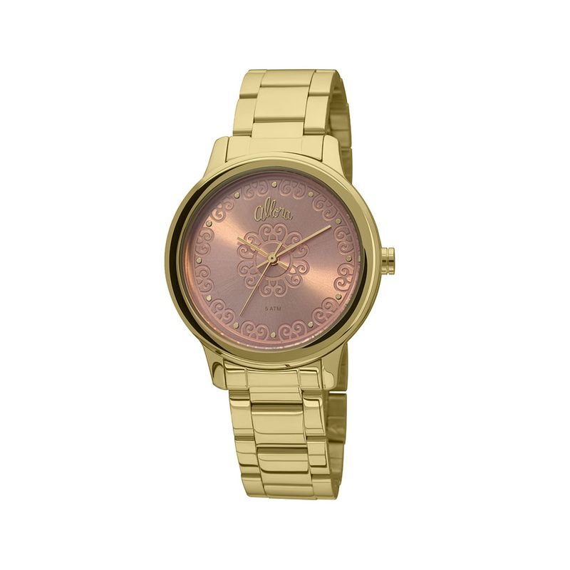 3ec3a624dce77 Relógio Allora Feminino em Aço Dourado - montecarlo