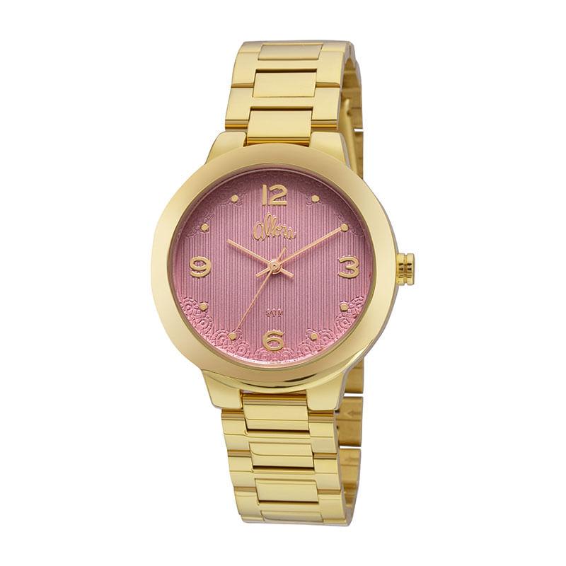 Relógio Allora Feminino Metal em Dourado - montecarlo e46e662f8b