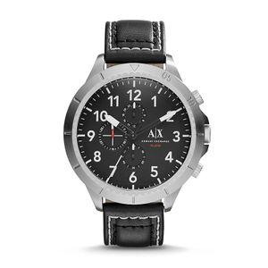 Relógio Armani Exchange  Prata, Couro e mais   Monte Carlo 53476f0b17