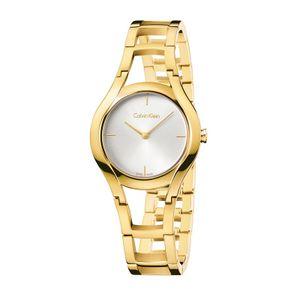 92672ebc5e2 Relógio Calvin Klein Feminino em Aço Dourado