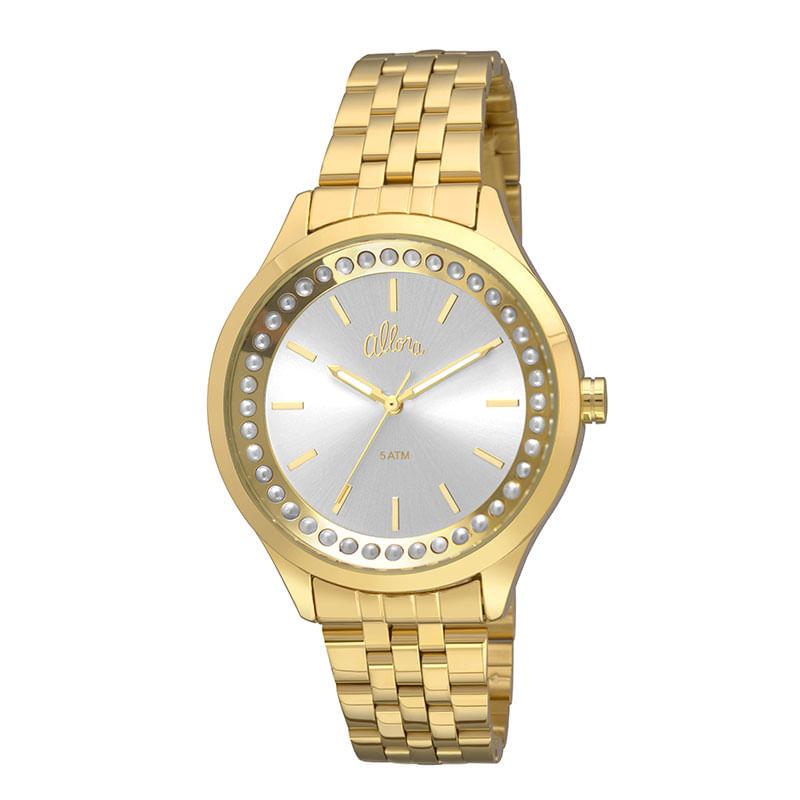 2d15885ffe0 Relógio Allora Feminino em Aço Dourado - montecarlo