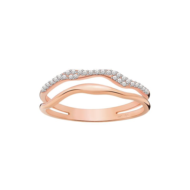 Anel em Ouro Rosé 18K com Diamante - montecarlo dbfea1c205