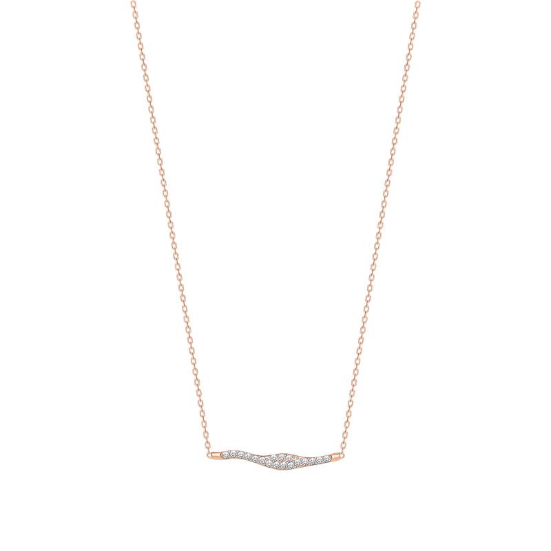 Colar em Ouro Rosé 18K com Diamante - montecarlo 2d5ae95804