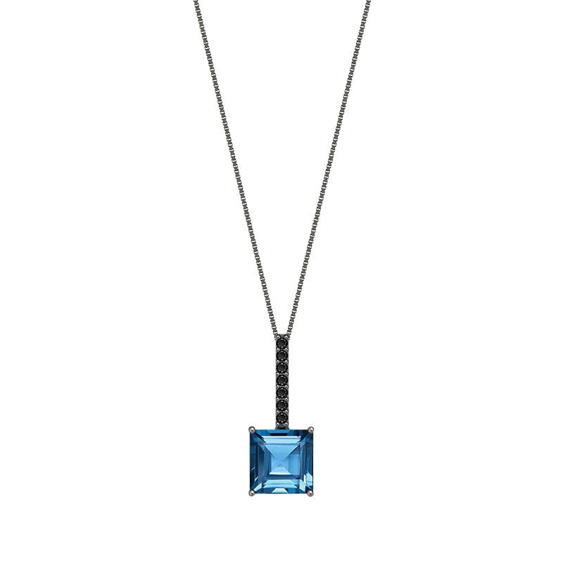 46f922ad2ef6d Colar em Ouro Branco 18K com Diamante, Topázio London - montecarlo