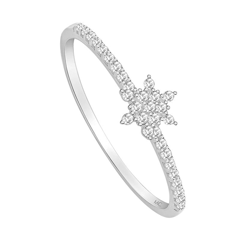 Anel em Ouro Branco 18K com Diamante - montecarlo 47cc494a96