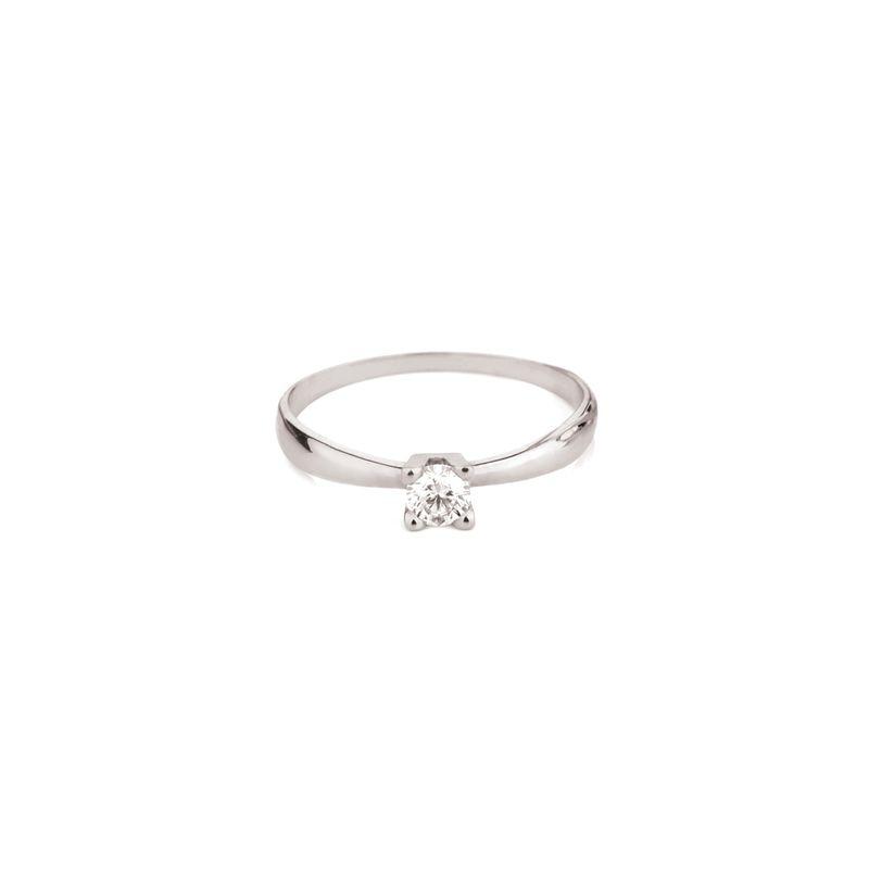 Anel Solitário em Ouro Branco 18K com Diamante FOREVER - montecarlo d8c33d119f