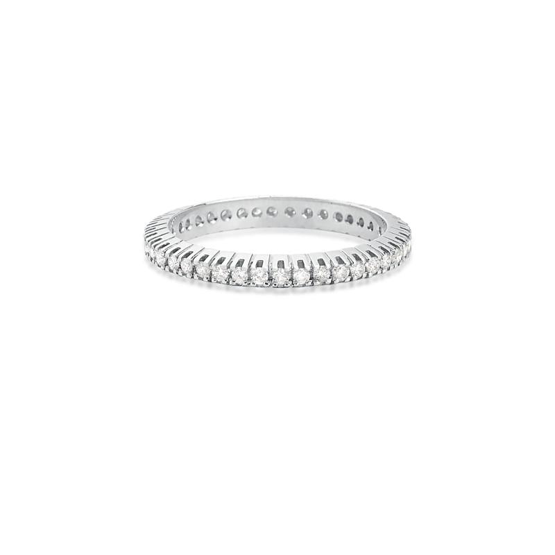 4731b6ac64b0e Anel em Ouro Branco 18K com Diamante - montecarlo