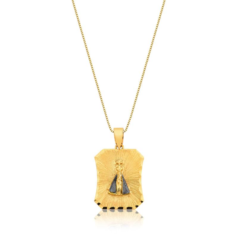 140c5abc963ba Pingente em Ouro Amarelo 18K - FE N SRA APARECIDA - montecarlo