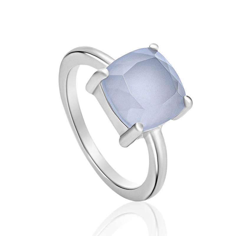 Anel em Prata com Quartzo azul - Candy - montecarlo bc64062a83