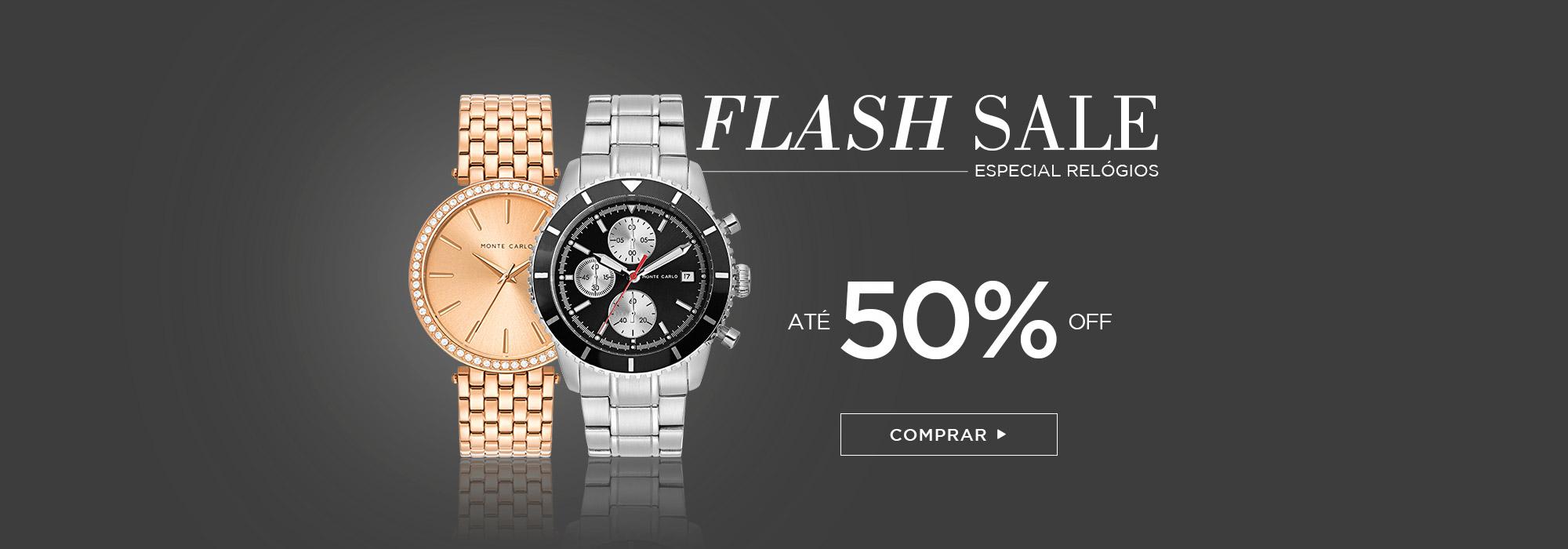 Flash Sale Especial Relógios | Monte Carlo