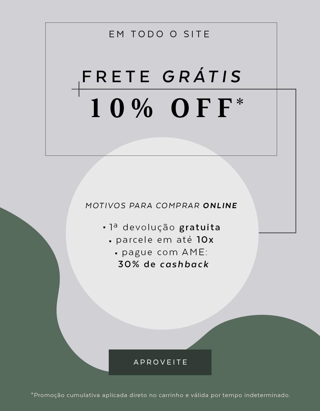 10% off + frete gratis